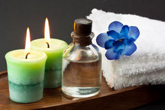 Candles and spa accessories Royalty Free Stock Image
