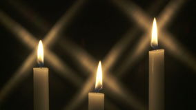 Candles with star effect stock footage