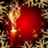 Candles and stars. Christmas background with candles and stars Stock Photo