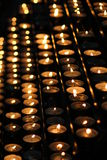 Candles in the Stephansdom stock images