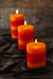Candles on the table for  Halloween Royalty Free Stock Photos