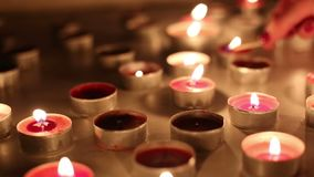 Candles on the table stock video footage