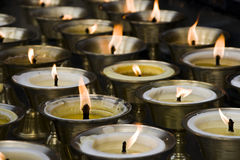 Candles at temple Royalty Free Stock Image