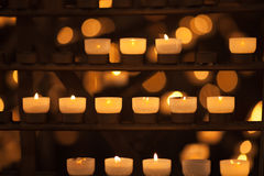 Candles in temple Stock Photography