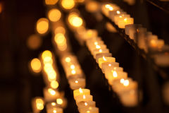 Candles in temple Stock Images