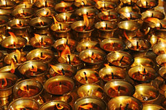Candles in the temple. Royalty Free Stock Image