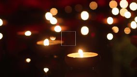 Candles in the temple Royalty Free Stock Photography