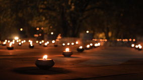 Candles in a temple stock video footage