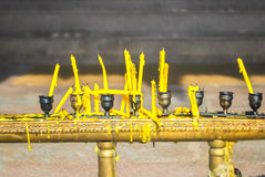 Candles at a Thai temple Stock Photography