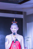 Candles on their heads - Sichuan opera performance Royalty Free Stock Photography