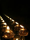 Candles to infinity Royalty Free Stock Image