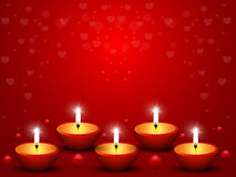 Candles on Valentine's Day Royalty Free Stock Photo