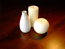 Candles and a vase Royalty Free Stock Image