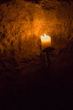 Candles in the vaults of Edinburgh Royalty Free Stock Images
