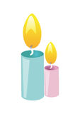 Candles vector. Candles on white background its very useful for your greeting cards stock illustration