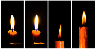 Candles vertical banner royalty free stock photos