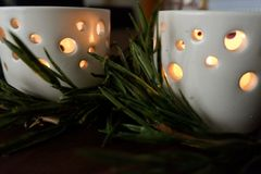 Candles for a warm illumination. Candles make a warm illumination. They are romantic, cheap and make no use of any energy stock photos