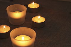 Candles warm light Stock Image