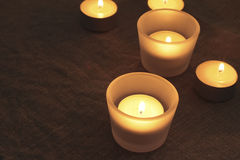 Candles warm light Royalty Free Stock Images