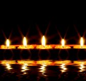 Candles by the water royalty free stock photo