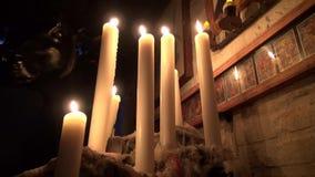 Candles, Wax, Fire, Light stock video