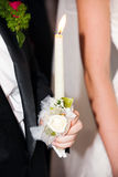 Candles of wedding ceremony Royalty Free Stock Photo