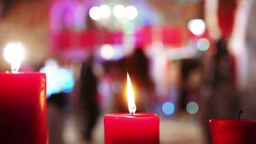Candles wedding dance stock video footage