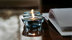 Candles and wedding guest book Royalty Free Stock Image