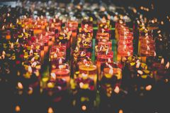 Candles in Wenshu monastery, Chengdu, China Royalty Free Stock Images
