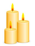 Candles. On a white background royalty free illustration