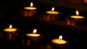 Candles Wind 4k stock video footage