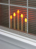 Candles in the Window Royalty Free Stock Photo