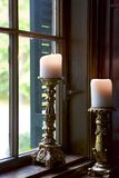 Candles in the Window royalty free stock images