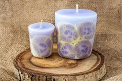 Candles on wooden Stock Photography
