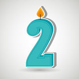 candles years number design Royalty Free Stock Images