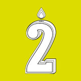 candles years number design Stock Photography