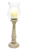 Candlestick. Ceramic gandlestick isolated on white. Clipping path Stock Photo