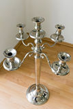 Candlestick. Polished metal candlestick built in retro design Royalty Free Stock Photos