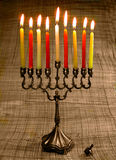 Candlestick. Special candlestick for celebrating a Khanuka Royalty Free Stock Photography