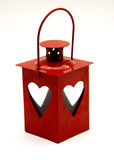 Candlestick. Gift on St. Valentine's Day Stock Photos