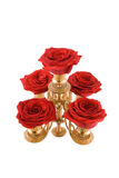 Candlestick. Romantic fire of love concept Stock Photo