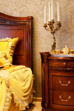 Candlestick from the bed Royalty Free Stock Photography