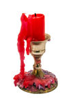 Candlestick with a candle candle-end Royalty Free Stock Photo