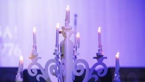 Candlestick candle Jewish stock video