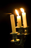 Candlestick with candles Royalty Free Stock Photos