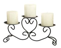 Candlestick with candles on a white background Stock Image