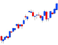 Candlestick Chart. 3d illustration looks a candlestick chart on the white background vector illustration
