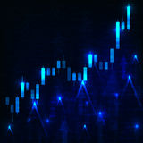 Candlestick chart abstract background Royalty Free Stock Image