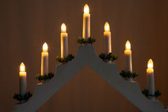 Candlestick Christmas Decoration Royalty Free Stock Image