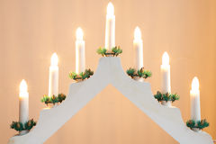 Candlestick Christmas Decoration Royalty Free Stock Photography
